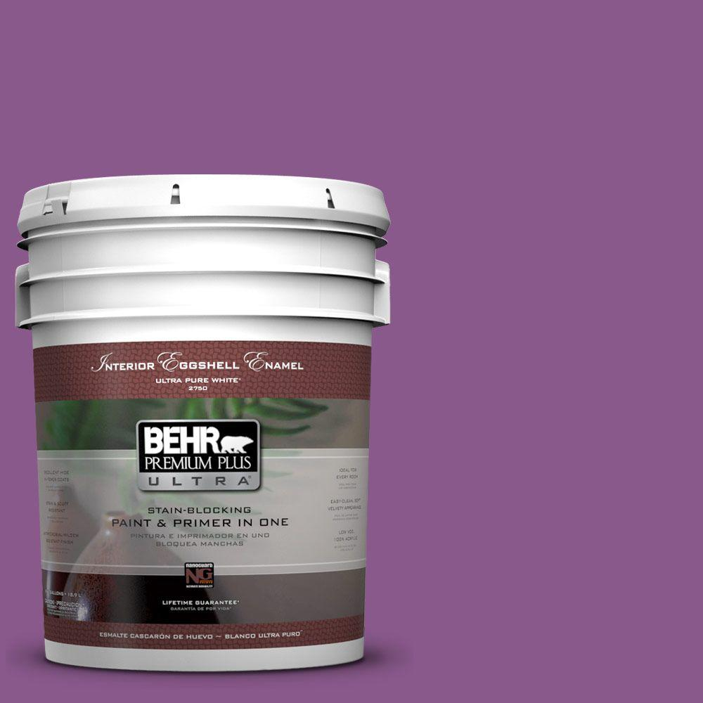BEHR Premium Plus Ultra 5-gal. #670B-7 Candy Violet Eggshell Enamel Interior Paint