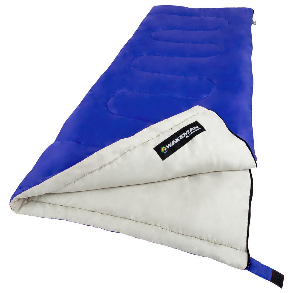 Wakeman 75 inch L 2-Season Sleeping Bag in Blue by Wakeman