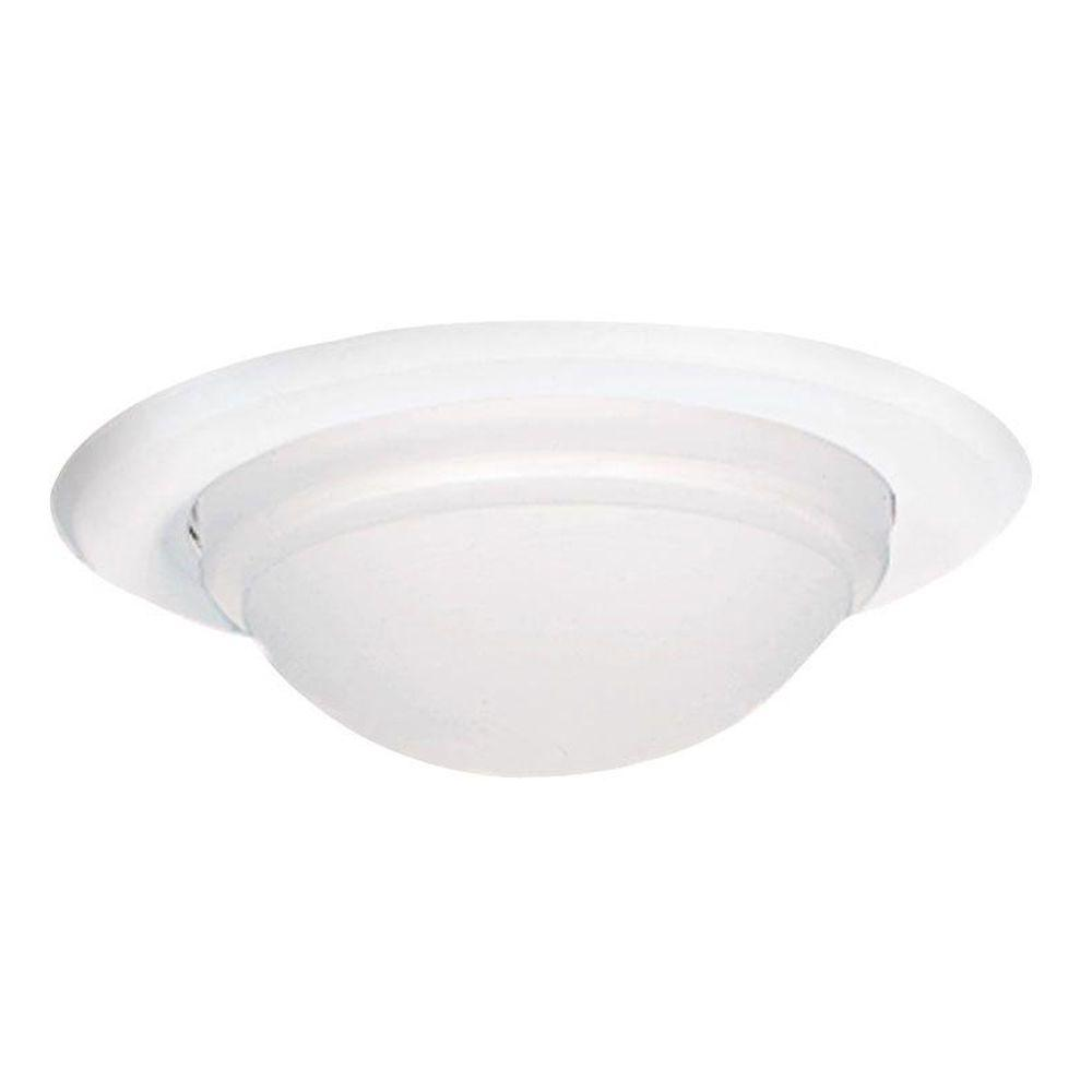 Perfect White Recessed Ceiling Light Dome Trim, Wet