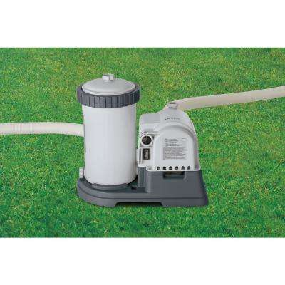 2,500 GPH Cartridge Filter Pump System for Intex Above Ground Pools