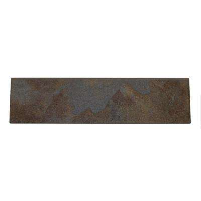 Continental Slate Tuscan Blue 3 in. x 12 in. Porcelain Bullnose Floor and Wall Tile