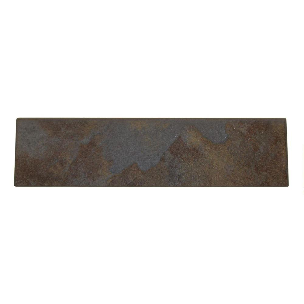 Daltile Continental Slate Tuscan Blue 3 in. x 12 in. Porcelain Bullnose Floor and Wall Tile (0.25702 sq. ft. / piece)
