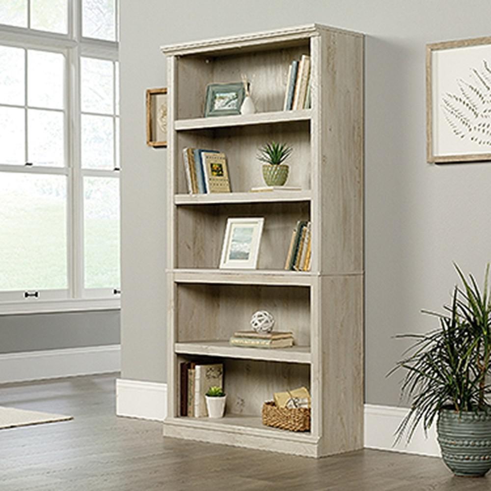 SAUDER Chalked Chestnut 5-Shelf Bookcase-423033 - The Home ...