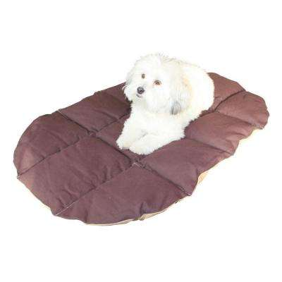 27 in. x 40 in. x 1 in. Heavy Duty Cotton Canvas Eco Travel Bed for Any Size Pet