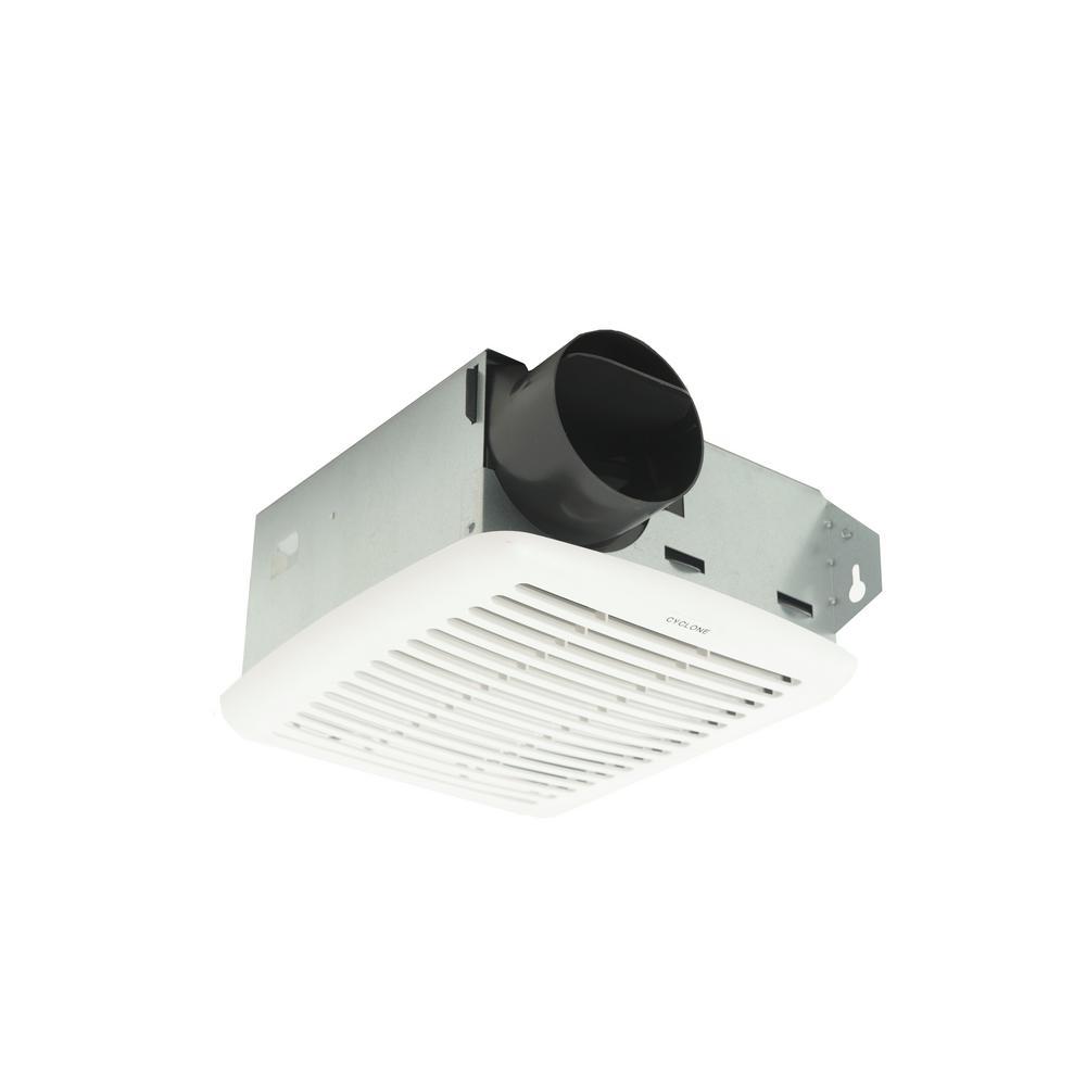 Broan Ceiling Exhaust Bath Fan 50 Cfm With Light Bathroom: HushTone Series 50 CFM Ceiling Bathroom Exhaust Fan-C50