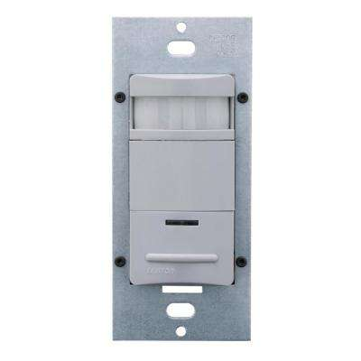 Commercial Grade Passive Infrared 1200 sq. ft. 180-Degree Single-Pole Occupancy Sensor with LED Night Light, Gray