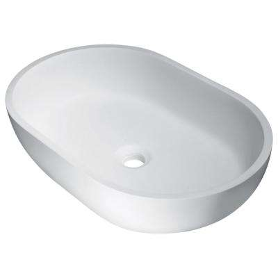Idle Man Made Stone Vessel Sink in White