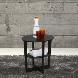 Furinno Oval Walnut End Table by Furinno