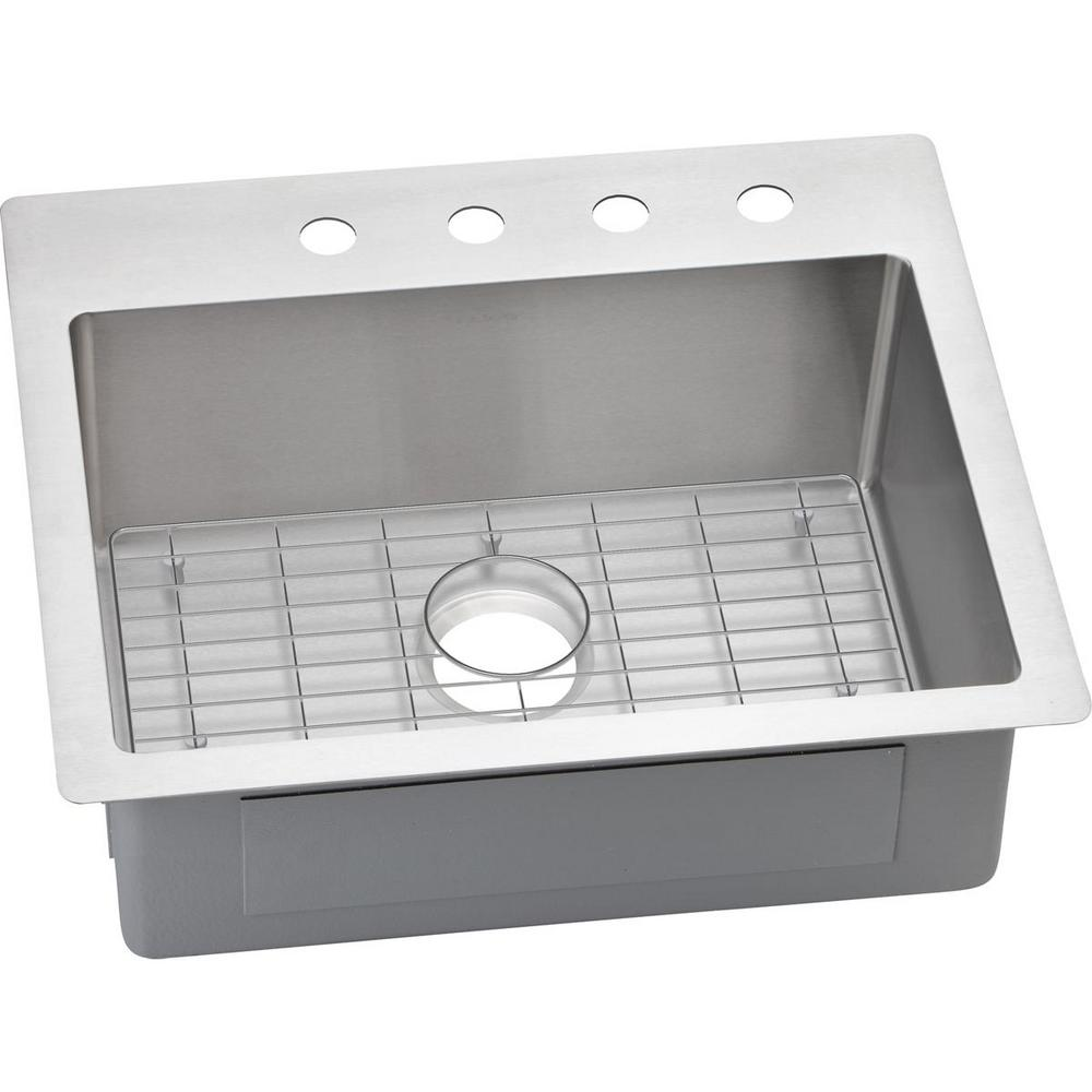 Kohler Vault Drop In Dual Mount Stainless Steel 25 4 Hole Can Be Used For Time Switches As Elkay Energy Management Crosstown Single Bowl Kitchen