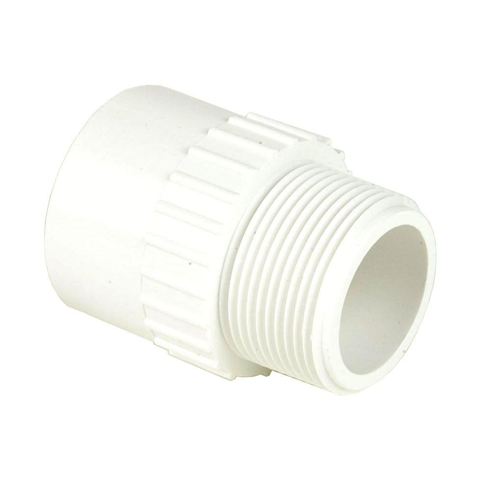 DURA 8 in. Schedule 40 PVC Male Adapter MPTxS