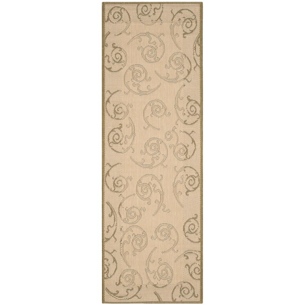 Courtyard Natural/Olive 2 ft. 3 in. x 6 ft. 7 in.