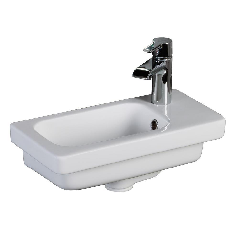 barclay products resort 450 17 3 4 in wall hung basin in white 4wall hung basin in white
