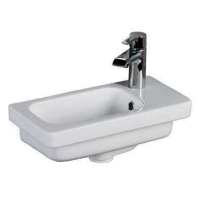 Resort 450 17-3/4 in. Wall Hung Basin in White