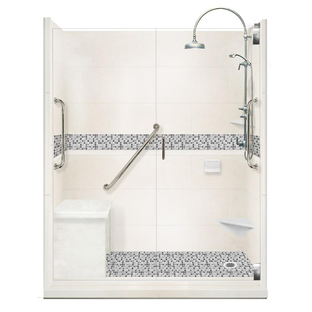 Del Mar Freedom Luxe Hinged 34 in. x 60 in. x