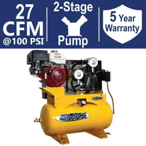 EMAX INDUSTRIAL PLUS 30 Gal  13 HP HONDA GX 2-Stage Truck Mount Gas  Horizontal Air Compressor-HGES1330ST - The Home Depot