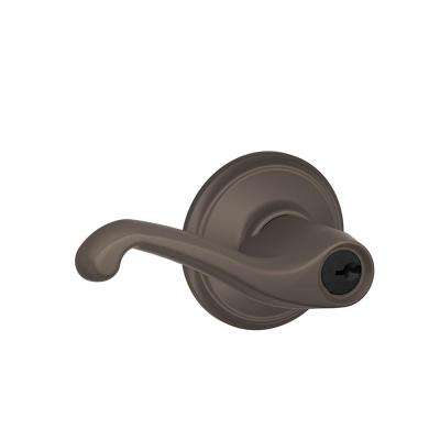 Flair Oil Rubbed Bronze Keyed Entry Door Lever