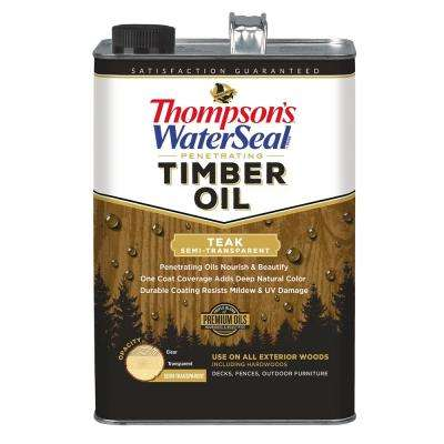 1 gal. Semi-Transparent Teak Penetrating Timber Oil Exterior (4-Pack)