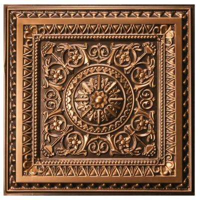 Marseille 2 ft. x 2 ft. Lay-in or Glue-up Ceiling Tile in Antique Gold (48 sq. ft. / case)