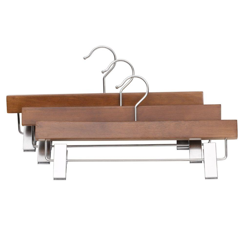 Real Skirt Hangers with Clips (3-Pack)