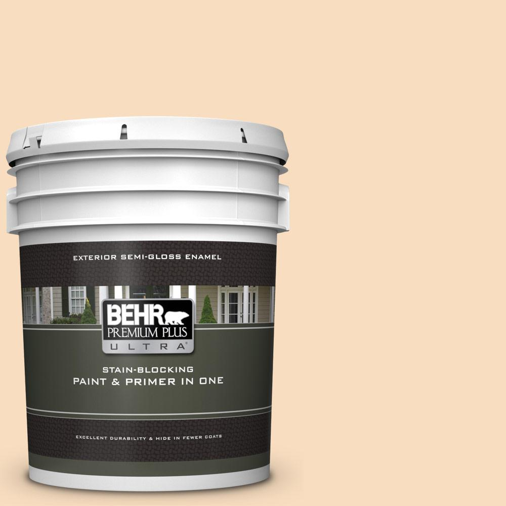 BEHR Premium Plus Ultra 5 gal  #M240-2 Pinch of Pearl Semi-Gloss Enamel  Exterior Paint and Primer in One