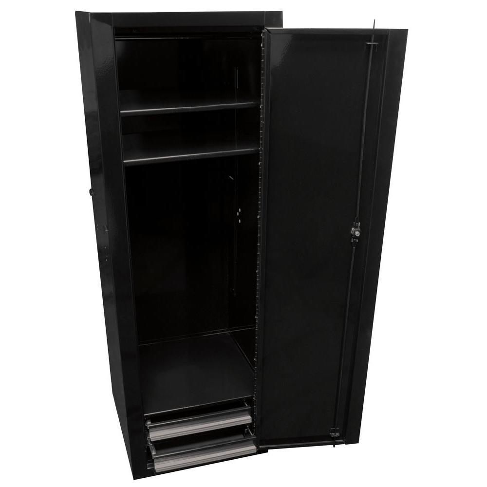 Professional 18 in. full height side locker, Black