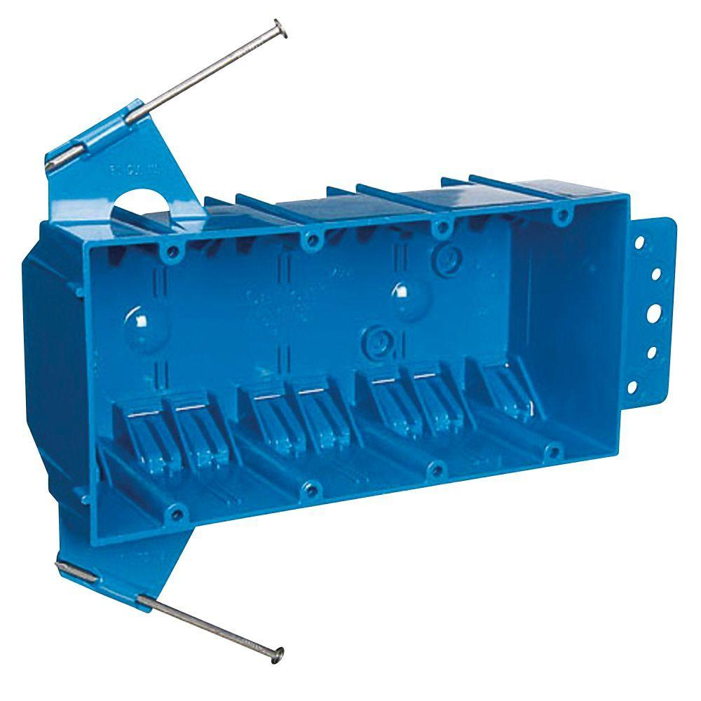 4-Gang 55 cu. in. Zip Box with Non-Metallic Switch and Outlet Box ...