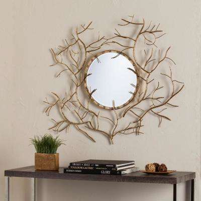 Colyn Branch Round Mirror