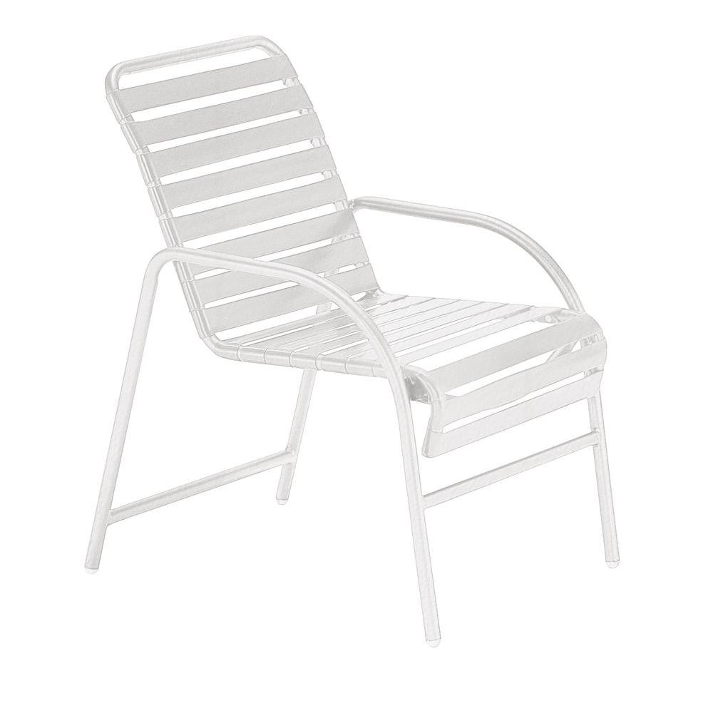 Tradewinds Milan White Commercial Patio Game Chair (2-Pack)