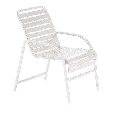 Milan White Commercial Patio Game Chair (2-Pack)