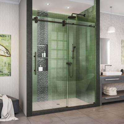 Enigma-XO 56-60 in. W x 76 in. H Fully Frameless Sliding Shower Door in Oil Rubbed Bronze