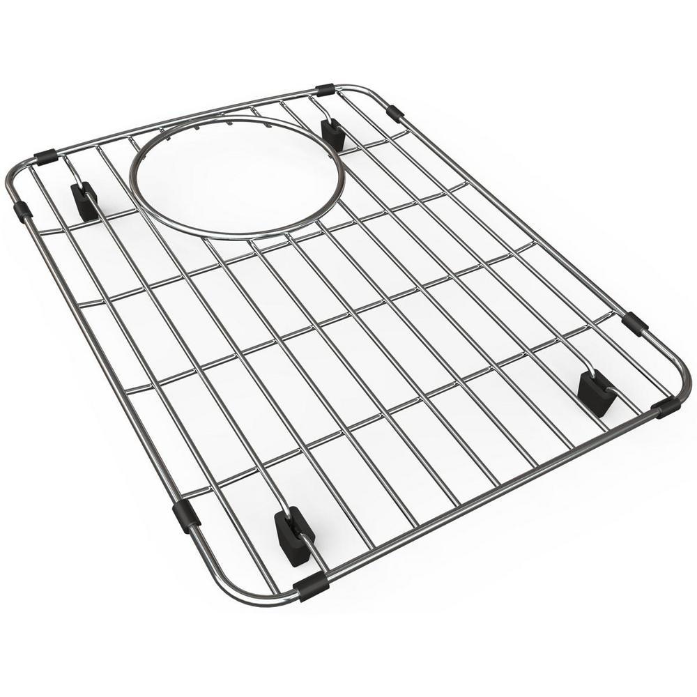 Quartz 11 in. x 14.625 in. Bottom Grid for Kitchen Sink in Stainless Steel