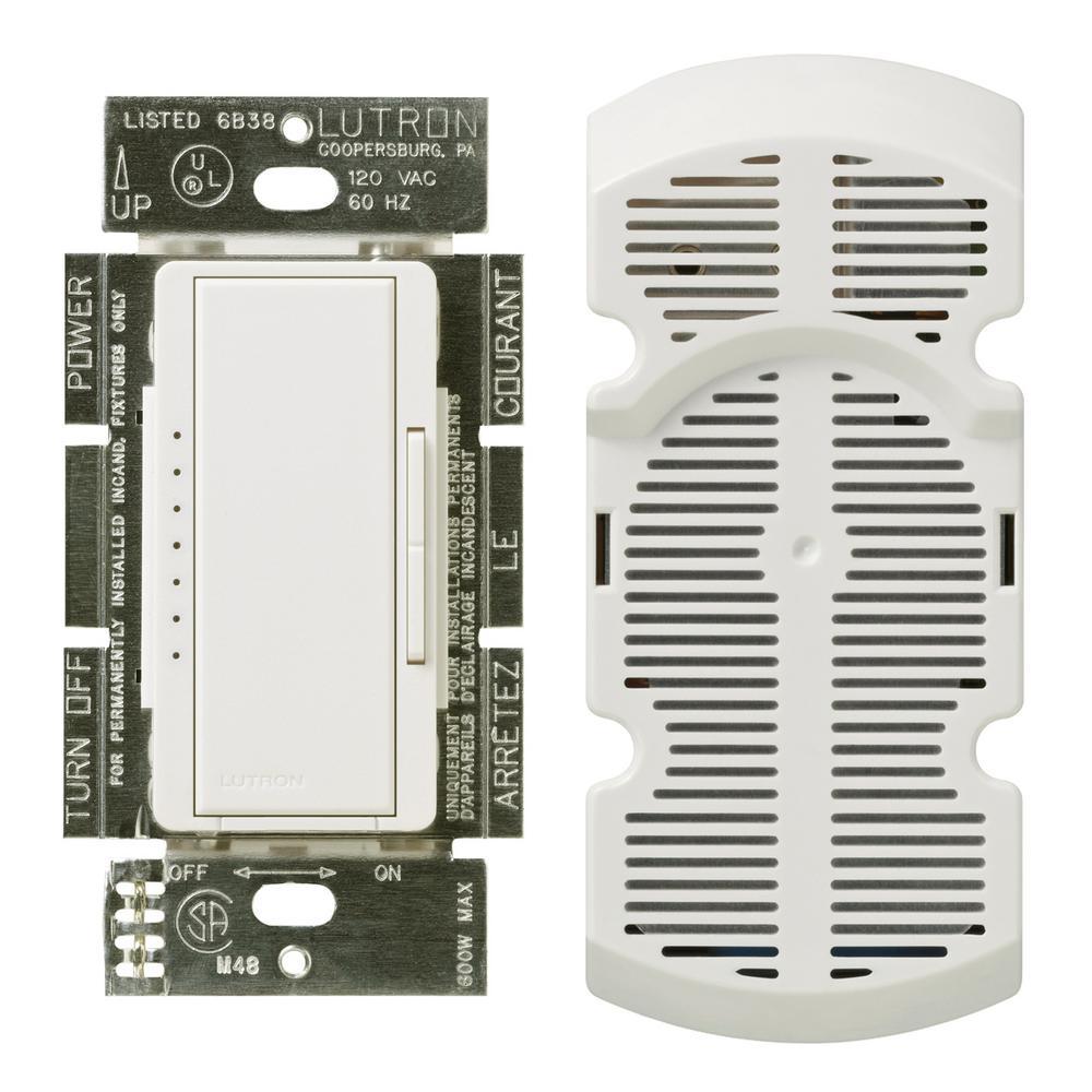 Maestro 1-Amp Multi-Location 7-Speed Fan Control, White