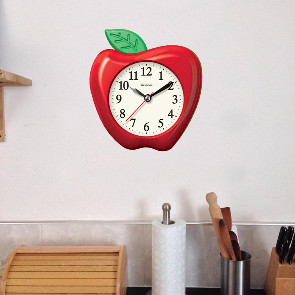 Westclox 3d Apple Wall Clock 32038a The Home Depot