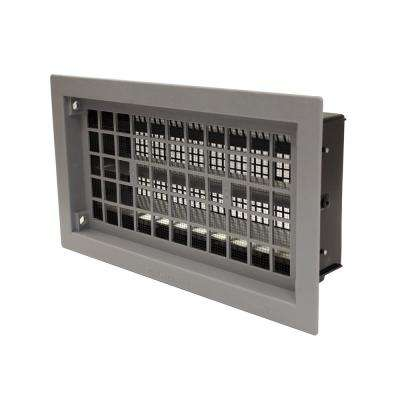 16 in. x 8 in. Automatic Foundation Vent in Gray (Carton of 10)