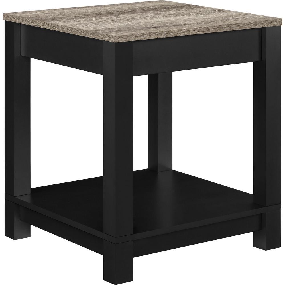 Viola Matte Black Storage End Table