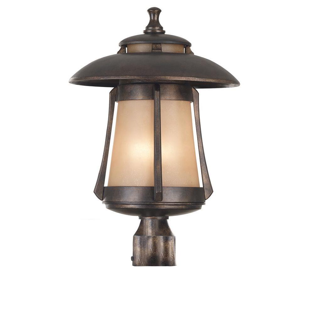 Kenroy Home Laguna 3-Light 21 in. Golden Bronze Post Lantern-DISCONTINUED