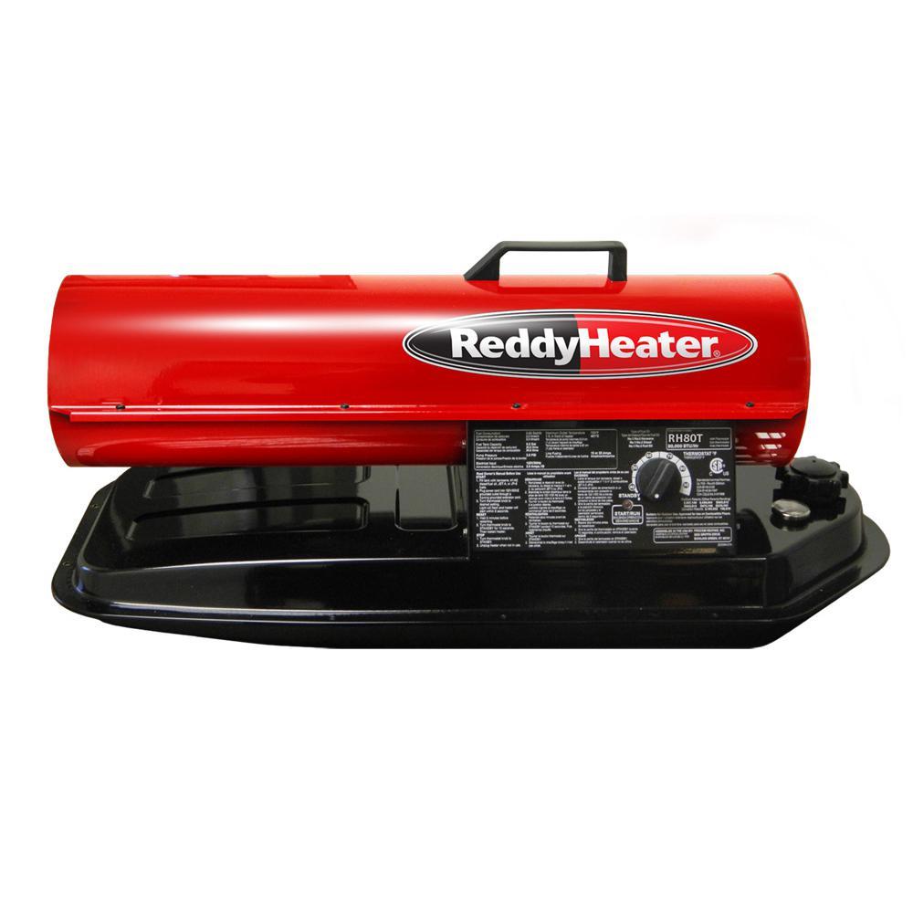 80 000 Btu Forced Air Kerosene Portable Heater With