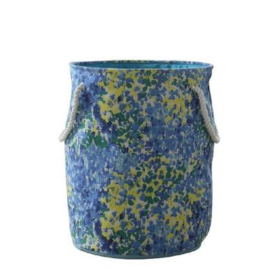 Round 22 Gal. Multi-Colored Hamper/Tote with Rope Handles