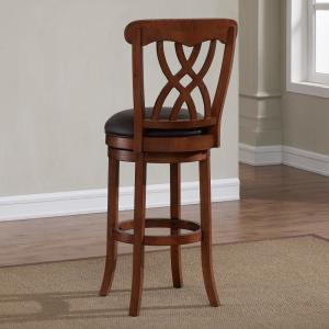 2 American Woodcrafters Lydia 30 In Light Oak Cushioned Swivel Bar Stool