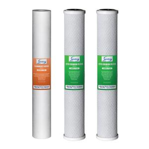 ISPRING 20 inch x 2.5 inch Water Filter Replacement Pack for Commercial RO Systems and Whole House Filters by ISPRING