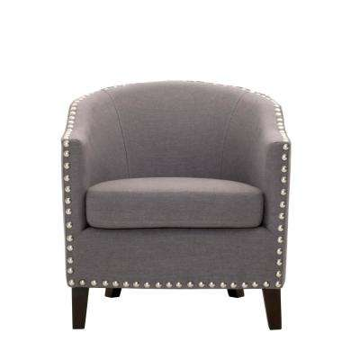 More Linen Dove Grey Club Chair