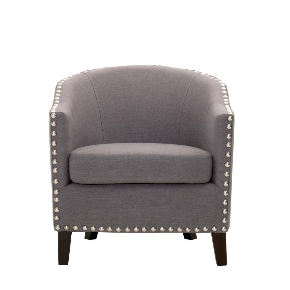 More Linen Dove Grey Club Chair