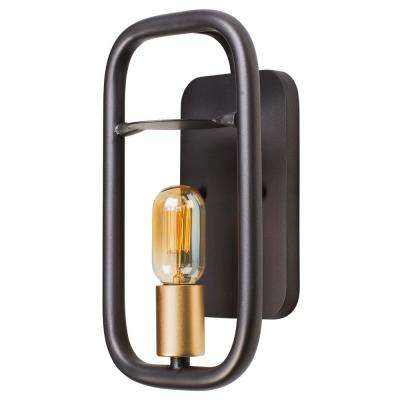 Rogue Decor Loophole 1-Light Rustic Bronze/Gold Wall Sconce