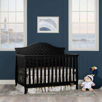 Kaylin Black 5 in 1 Convertible Crib