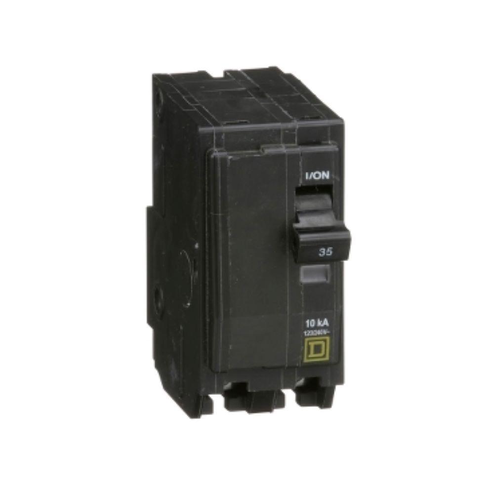 Square D QO250 Type QO 50-Amp Two-Pole Circuit Breakers Plug-On Lot of 3
