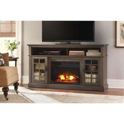 Brookdale 60 in. Freestanding Electric Fireplace TV Stand in Espresso