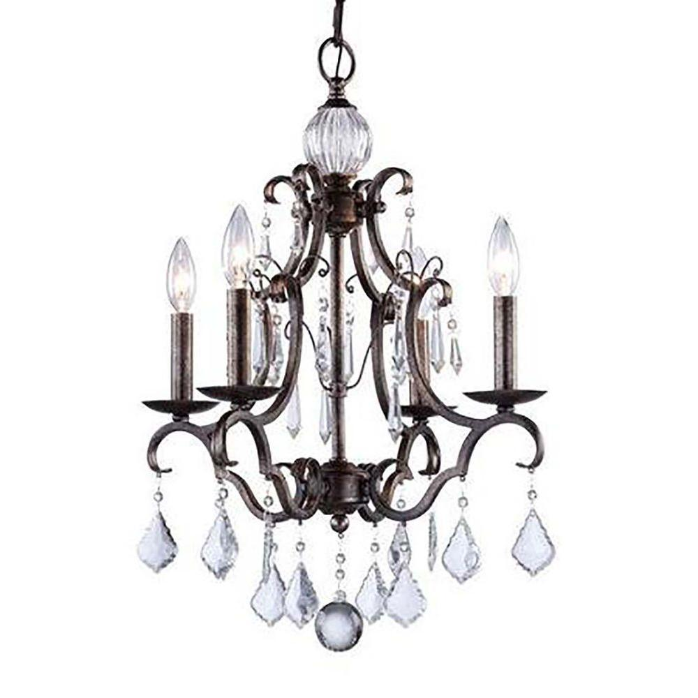 Filament design vieira 4 light dark brown chandelier cli acg157414 filament design vieira 4 light dark brown chandelier aloadofball Gallery