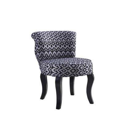 Triangle Trellis Grey Accent Chair