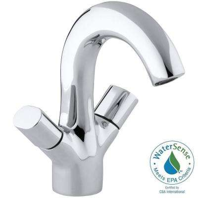 Oblo Single Hole 2-Handle Low-Arc Water-Saving Bathroom Faucet in Polished Chrome