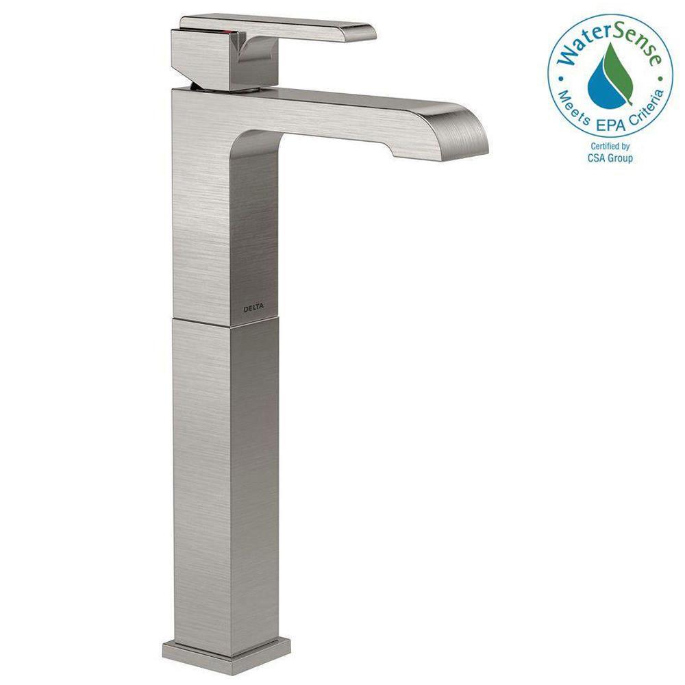 Shop Delta Nyla Stainless 1-Handle Vessel WaterSense Bathroom ...